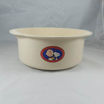 Vintage Charlie Brown Snoopy Chex Bowl 3.5 qt Peanuts Snoopy