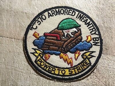 "Cold War/Vietnam? US ARMY PATCH-""C"" 370 ARMORED INFANTRY BN-ORIGINAL BEAUTY!"