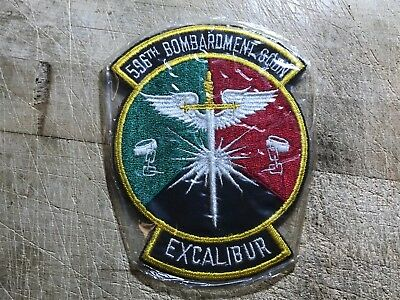 WWII/WW2/Post? US AIR FORCE PATCH 596th Bombardment Squadron Excalibur ORIGINAL!