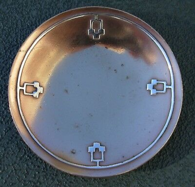 A.j. Heinz Sterling On Bronze Pin Tray Dish Ashtray - Art Nouveau