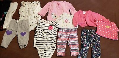 Newborn 0-3 Months Infant Baby Girl Clothes Lot Fall winter leggings long sleeve