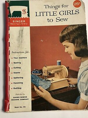 Vintage Singer Booklet Sewing Library Things for LITTLE GIRLS to Sew