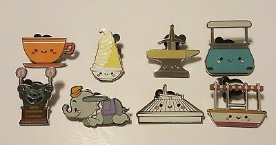 Disney Pins Mystery Collection Kingdom Of Cute Complete Set Of 8