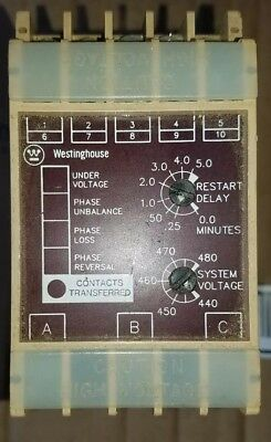 Westinghouse SVM3AC 4324B04G13 System Voltage Monitor.