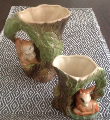 """2 Pieces Vintage Withernsea Eastgate Pottery -""""Fauna"""""""