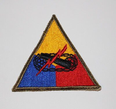 Authentic WWII U.S. Army Armored Headquarters Shoulder Insignia Patch