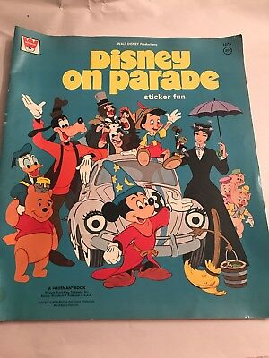 Vintage1970's Walt Disney Productions Disney On Parade Sticker Book Whitman