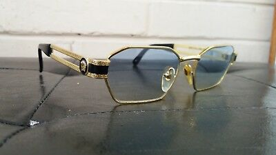 Gianni Versace Mod. S 69 Medusa Vintage Made In Italy Gold  90's Sunglasses