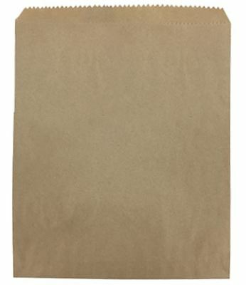 "100 x BROWN STRUNG KRAFT PAPER FRUIT BAGS - 7"" x 7"""