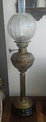 Antique victorian oil lamp