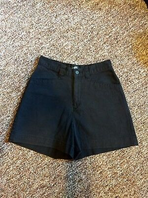 Vintage 90s Black High Waisted Shorts Womens Size Small 27 in Waist Pockets Lee