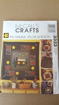McCall's 3323 Sewing Pattern *An American Tradition* QUILT~APRON~TOTE 2001 UNCUT