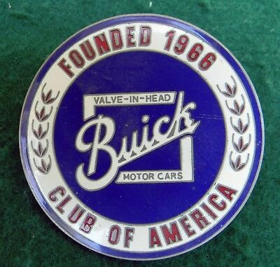 Vintage Buick Club Of America Grill  Badge