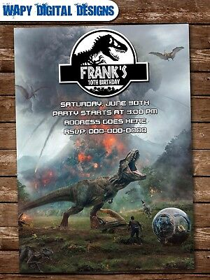 Jurassic World M2 Digital Party Invitation Personalized Printable Birthday Park