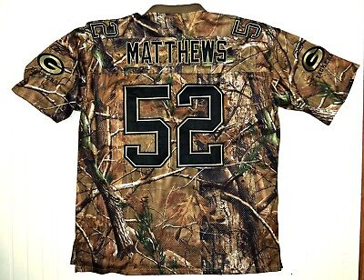 2XL CLAY MATTHEWS STITCHED Green Bay Packers Jersey Camo Print