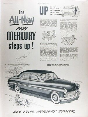 1949 MERCURY SEDAN Genuine Vintage Advertisement ~ RARE CDN AD