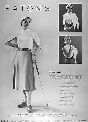 1953 EATON'S GOLF OUTFIT Genuine Vintage Advertisement ~ RARE CDN AD