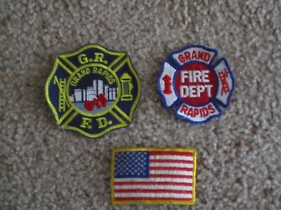 3 Grand Rapids Fire Department  Patches