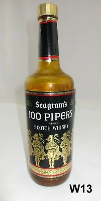 Vtg Advertising Rotating Bottle Seagram's 100 Pipers Blended Scotch Man Cave W13
