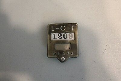 Vintage Libbey Owens Ford Glass Plant Badge, Model A Ford?