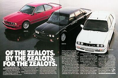 1988 BMW M3 M5 M6 Genuine Vintage Advertisement ~ Of the Zealots For the Zealots