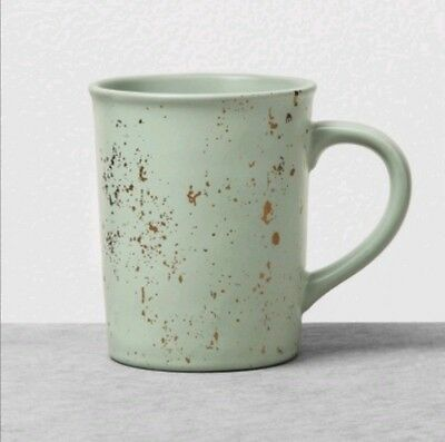 Hearth and Hand with Magnolia Stoneware Mug Green Speckled Gold 2018 New VHTF
