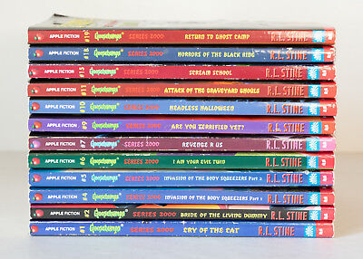 Lot of 12 ALL GOOSEBUMPS SERIES 2000 Matched Set of Books by R.L. Stine