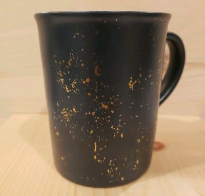 Hearth and Hand with Magnolia Stoneware Mug Blue Speckled Gold 2018 New VHTF