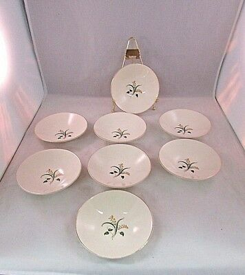 8 Knowles China Forsythia BOWLS 5 1/2 INCHES