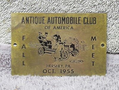 1955 Hershey Fall Meet dash plaque, AACA, Antique Automobile Club of America