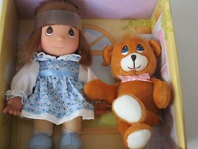 PRECIOUS MOMENTS My Precious Pal Caitlyn & Bear Cloth Plush & Vinyl Doll NIP