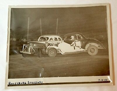 1952 Galesburg Speedway, Michigan dirt race track stock car, Bob Vos photo, old
