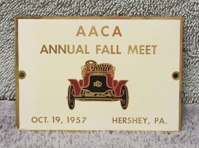 1957 Hershey Fall Meet dash plaque, AACA, Antique Automobile Club of America
