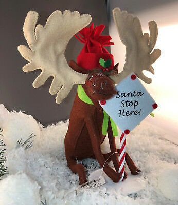 """ANNALEE Doll  7"""" Peppermint Moose #750715  NEW with Tags and Bag"""