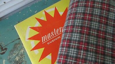 VTG Mastercraft Automatic Electric HEATING PAD 3 Heat Setting PLAID Cover WORKS!