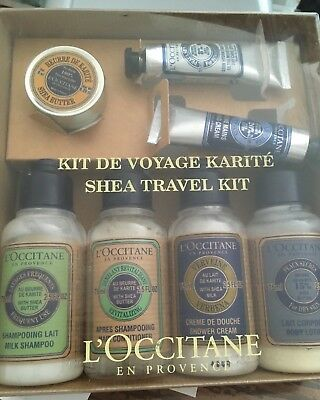 L'occitane Shea Travel Kit 7 pieces New in Box
