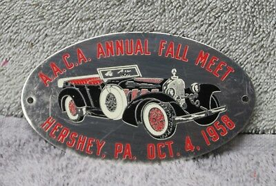 1958 Hershey Fall Meet dash plaque, AACA, Antique Automobile Club of America