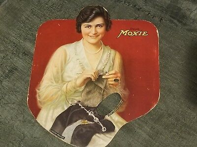 1920's Moxie Soda Fan Laura Walker Movie Star Sign Vintage Old Advertising Ad