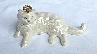 The Franklin Mint Curio Cabinet ~ Lustre Glaze Cat ~ Very HTF ~Many Others LOOK!