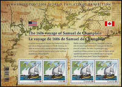 Usa & Canada Issue Stamps - The 1606 Voyage Of Samuel De Champlain #2156 Mnh