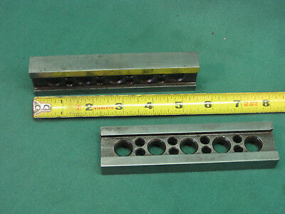 "Two Machinist Parallel Bars - 5 1/2"" X 1 3/8"" X 5/8"""