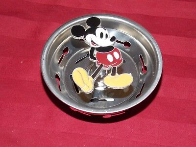 """Disney Parks """"Mickey Mouse"""" Kitchen Sink Drain Strainer and Plug Stopper (NEW)"""