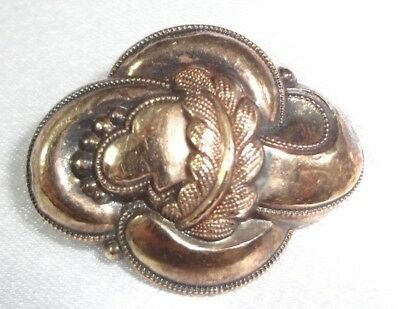 "ANTIQUE! 830 SILVER ""C"" Clasp Catch 1800's Tube Hinge! Brooch / Pendant Amazing!"