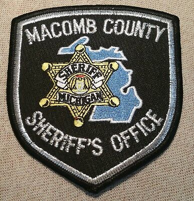 MI Macomb County Michigan Sheriff Patch