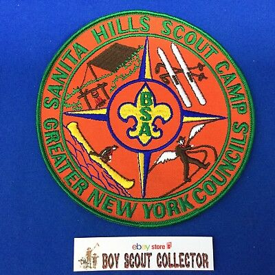 Boy Scout Santa Hills Scout Camp Greater New York Councils Jacket / Back Patch