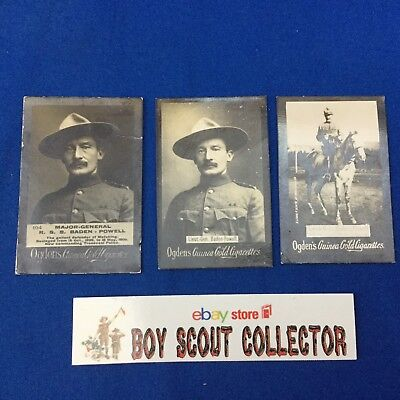 Boy Scout 3 Ogden's Cigarettes Baden-Powell Trading Cards