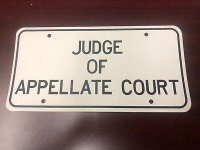 Judge of Appellate Court License Plate