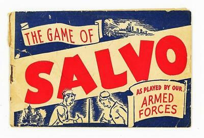 WWII THE GAME OF SALVO BOOKLET Vintage 1943 W. H. HARPER PLAYED BY ARMED FORCES