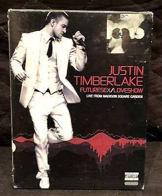 Justin Timberlake FUTURESEX/LOVESHOW Future Sex/Love Show DVD 2 disc SET NEW R1