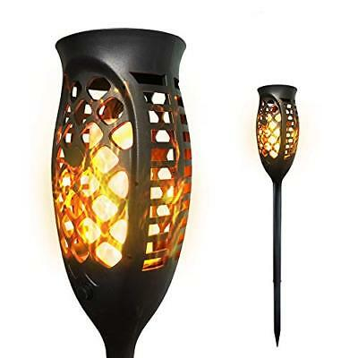 Petrala Solar Torch Lights Outdoor 3 Modes Flickering Flames Decorative Long for